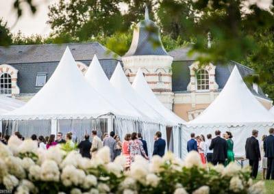 Orangerie-Tente Côté Sud pour le dîner de mariage