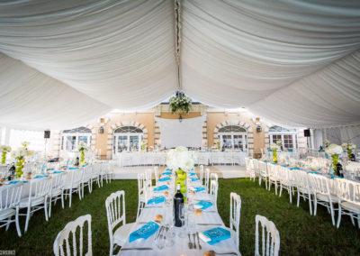 Orangerie-Mariage-Intérieur de la tente pour la réception