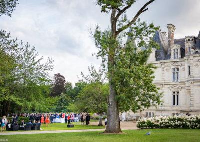 Orangerie-Buffet apéritif de Mariage dans le Parc face au Château