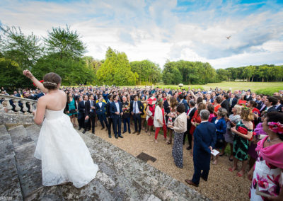 Orangerie-Photos pour un Mariage sur le perron du Château de La Touchardière