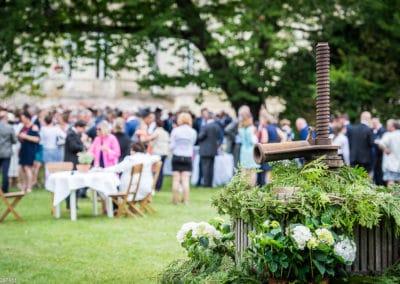 Orangerie-Pressoir décoré pour un mariage à La Touchardière