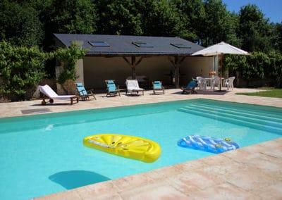 La piscine chauffée de l'Orangerie de la Touchardière